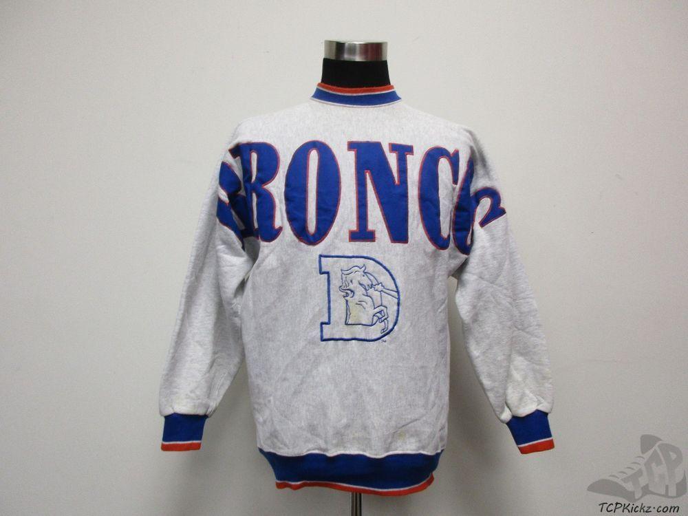 Vtg 90s Legends Denver Broncos SEWN Crewneck Sweatshirt sz XL Extra Large NFL  #Legends #DenverBroncos #tcpkickz