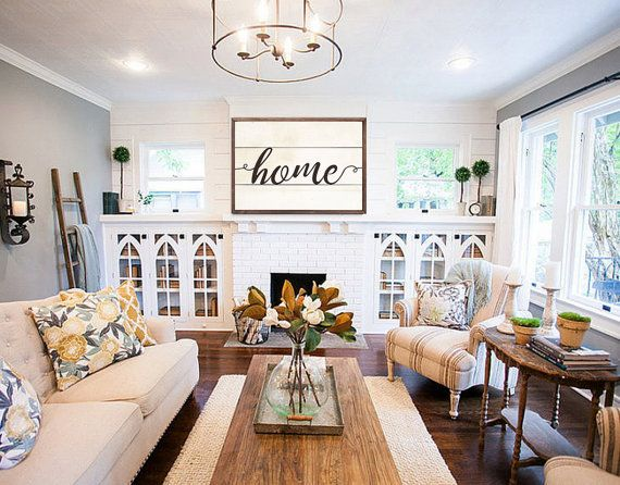 Personalized Last Name Est Signs Est Family Name Sign Est Last Etsy Joanna Gaines Living Room Farm House Living Room Home Living Room