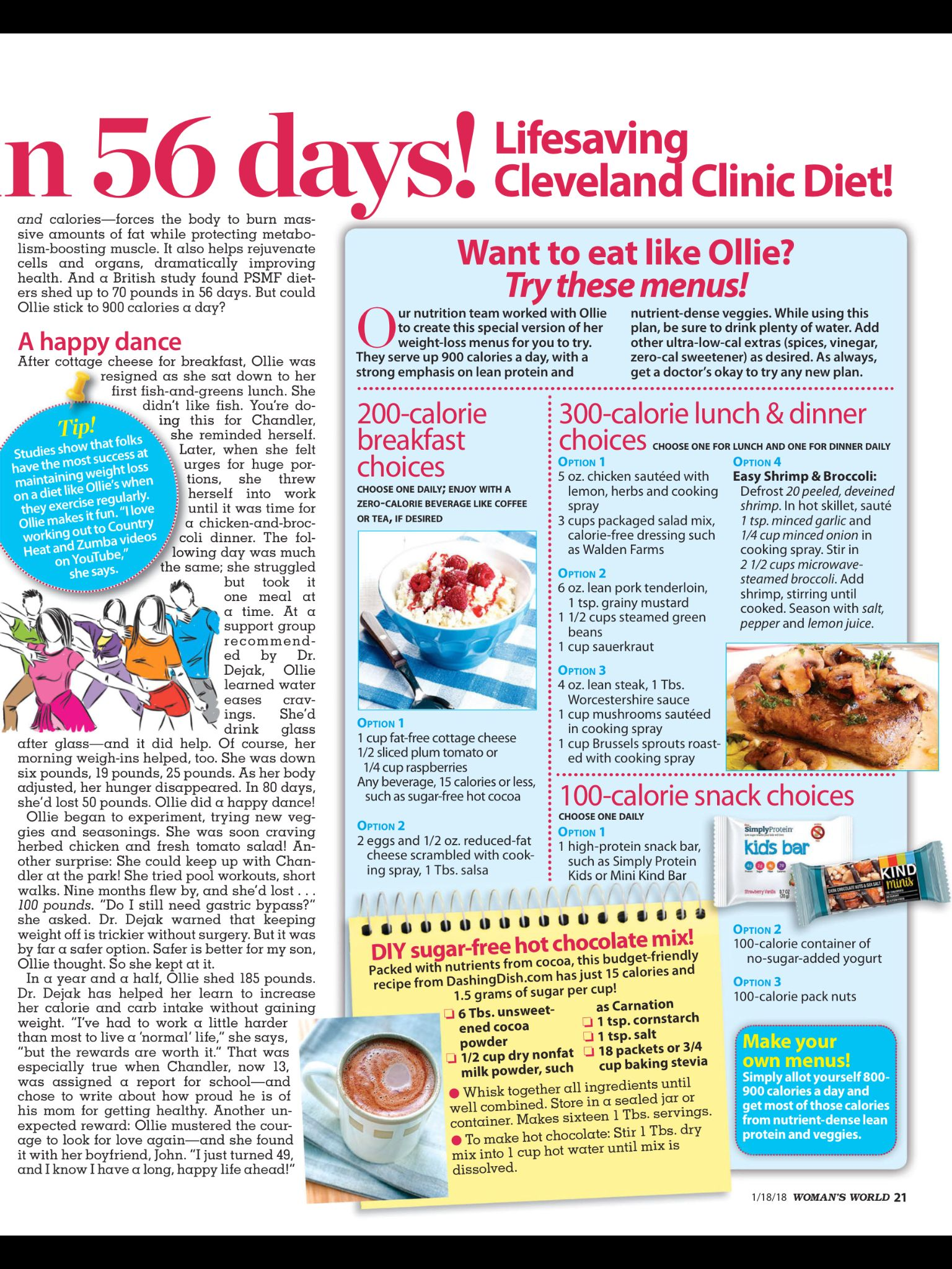 56 day diet handouts