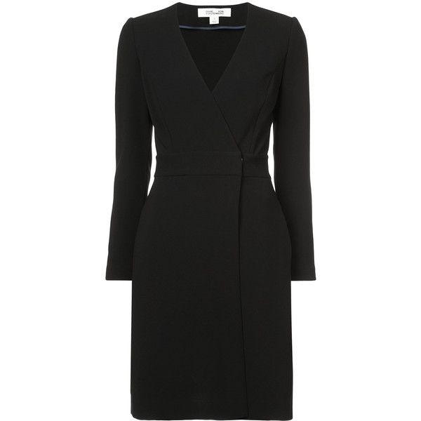 vestidos gustó Dvf Vestido Negro Diane Furstenberg Polyvore Me Tailored Dress Wrap Furstenberg Von en con 705 ❤ 1Orwq1