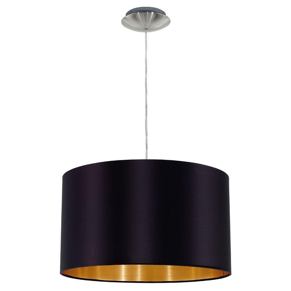 Eglo Maserlo Black And Chrome Pendant Drum Pendant Lighting Pendant Lighting Gold Pendant Lighting