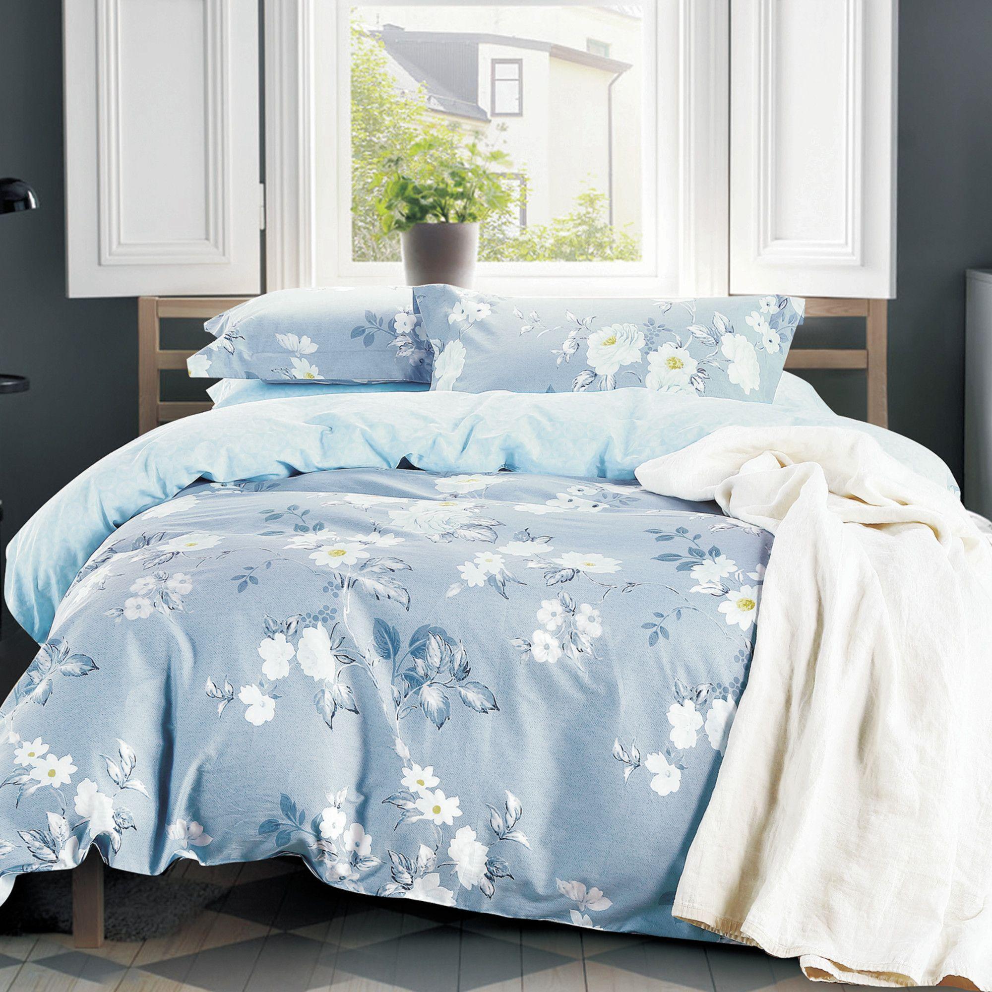 Ellis 3 Piece Duvet Cover Set Comforter Sets Blue Bedding Sets