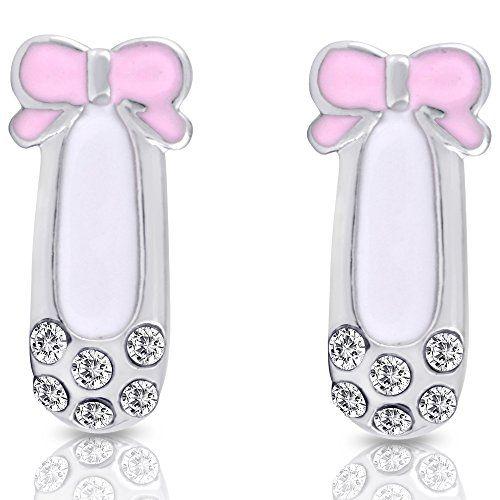 Smitco Llc Little Earrings Hypoallergenic Stud Set For Kids With Sensitive Ears Suitable Young S Or Toddlers Silver Tone Rhodium Plated