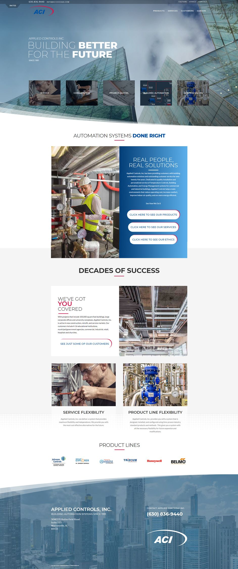 Website For Applied Controls Inc Aci By Visionfriendly Com Controldesign Featuredproducts Featuredservices Webd Web Design Responsive Design Naperville