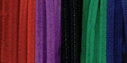 Chenille Stems 6mm 12-Inch, 100/Pkg, Jewel by Darice. $4.88. For Ages 6 and Up. Made in China. Includes 100 Pieces. DARICE-Chenille Stems. These soft flexible chenille stems are fun for kids and great to use at school; home; camp and more. This package contains 100 6mm by 12in stems. Available in a variety of colors: each sold separately. Imported.