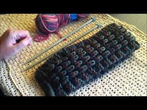 Cómo tejer: Bufanda en punto inglés (efecto de relieve) - dos agujas ...