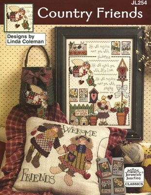 Country Friends preview - free cross stitch patterns pinned separately