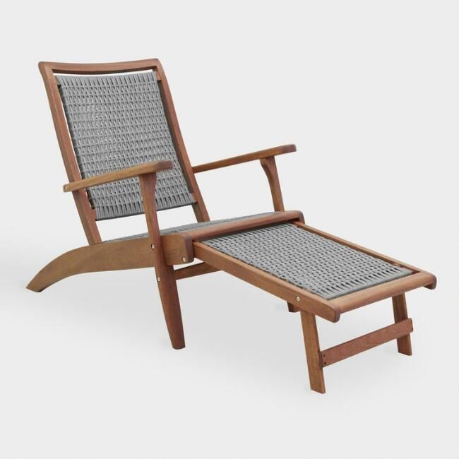Gray All Weather Wicker And Wood Galena Outdoor Patio Lounger By World  Market | Outdoor Loungers, Weather And Woods