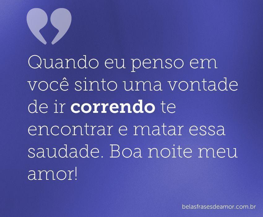 Amo Voce Boa Noite Amor: Boa Noite Amor, Frases De