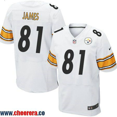 Men's Pittsburgh Steelers #81 Jesse James White Road Stitched NFL Nike Game Jersey