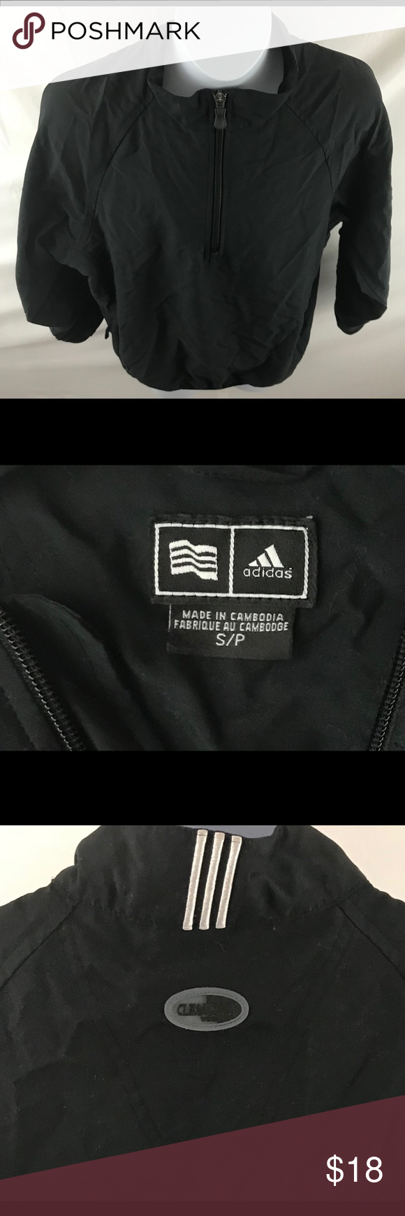 Black Small Adidas Boys Size Windbreaker Y6gby7fvI