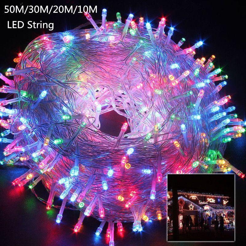 10M 20M 30M 50M LED string Fairy light holiday Patio Christmas
