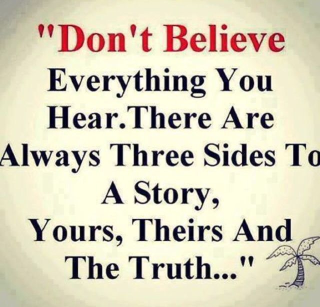 Everyone has a different story