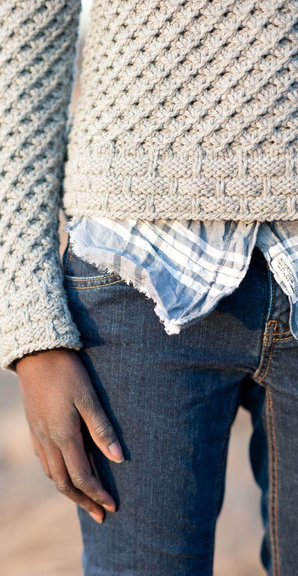 Photo of Koebgeflecht-Muster unten als Bündchen und oben Kreuzmuster, #als # Bündchen # knittingsweater …