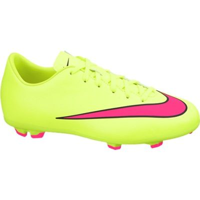 Nike Mercurial Victory V Firm Ground Football Boots - Kids Yellow, Yellow