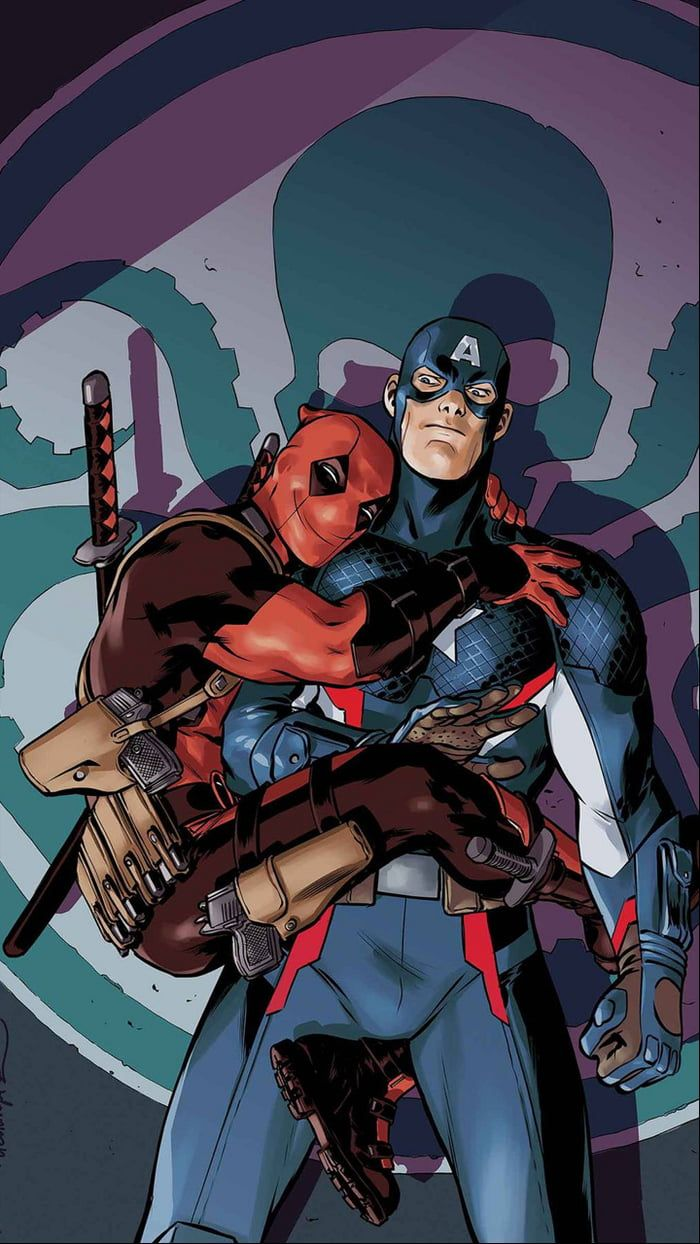 Deadpool and Captain America in 2020 Captain america