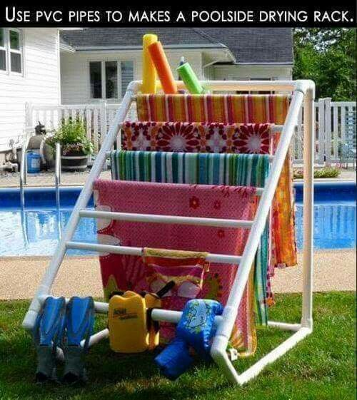 Pool Towel Drying Rack Interesting Pool Side Towel Drying Rack  I Wish I Had A Pool  Pinterest Design Decoration