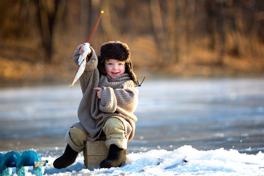Семья, картинки с рыбалкой зимней