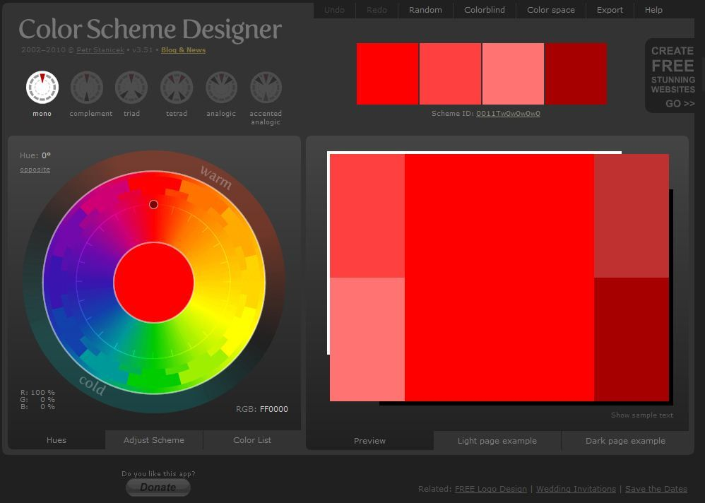 Select The Perfect Color Scheme For Web Pages Blogs Posters