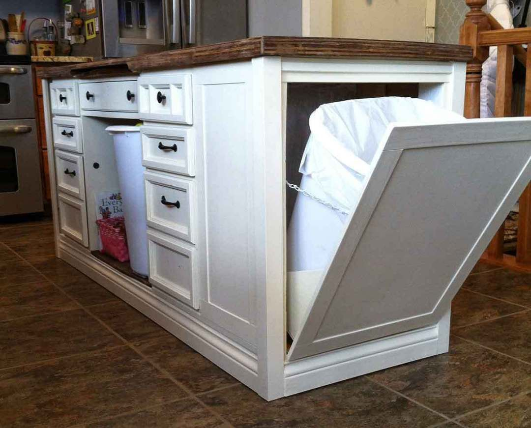 How to Transform a Desk into a Kitchen Island