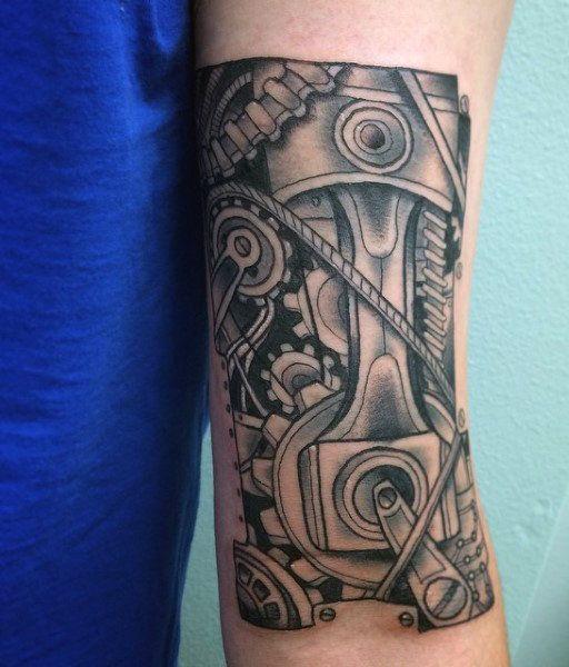 60 Piston Tattoo Designs For Men - Unleash High Horsepower ...