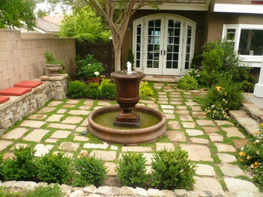 gorgeous front yard courtyard