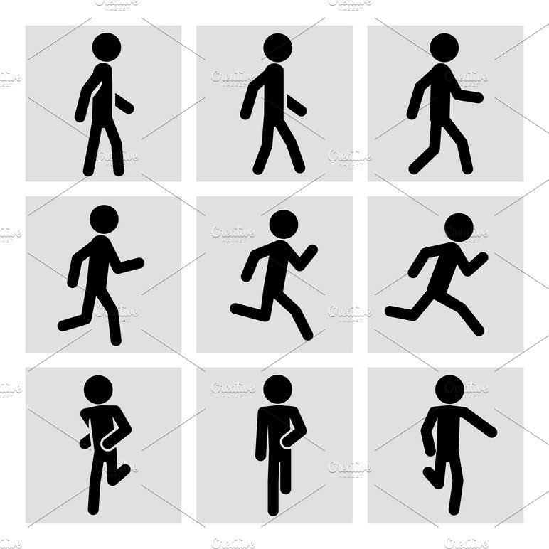 Walking And Running People Icons In 2020 People Icon Human Icon Walking Animation Discover 200+ animated icon designs on dribbble. pinterest