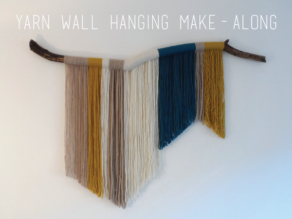 February makealong yarn wall hanging a simple diy using wool a branch and your hands