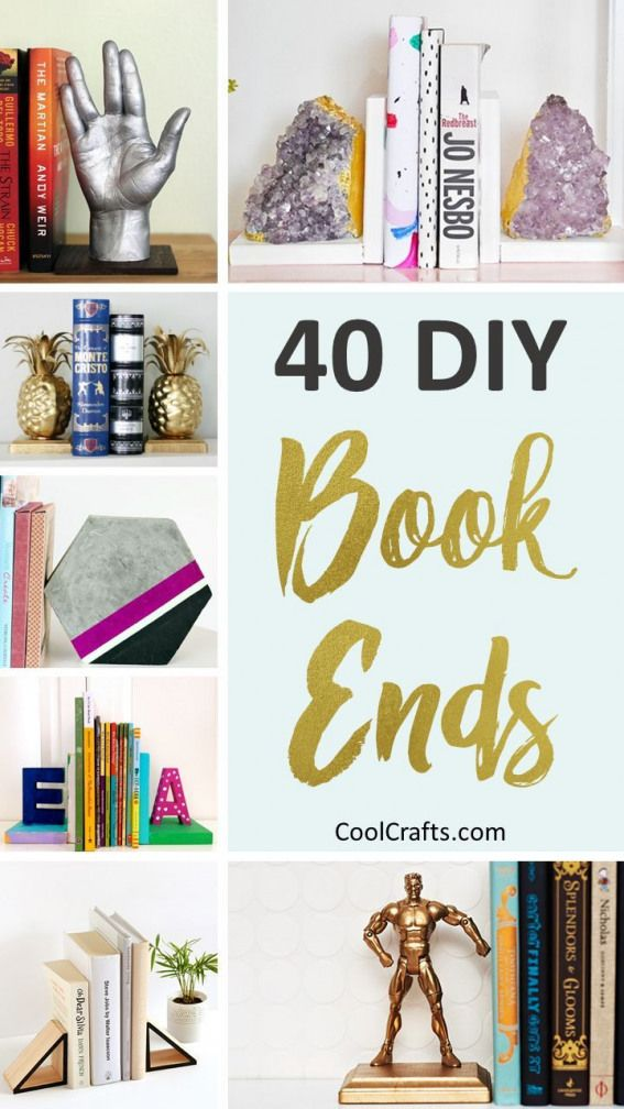 40 Decorative DIY Bookends To Spruce Up Your Shelves. |