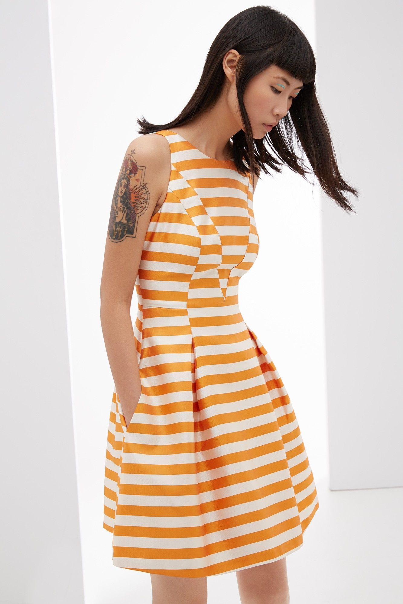 Vestido lady de rayas label nuevo adolfo dominguez for Adolfo dominguez vestidos outlet