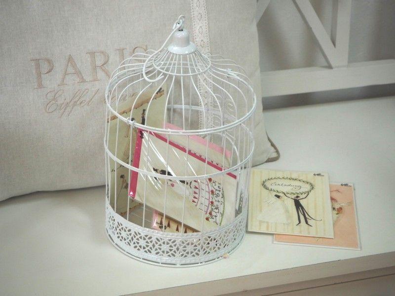 Briefbox Voliere Kafig Hochzeit Weiss Hochzeit Pinterest