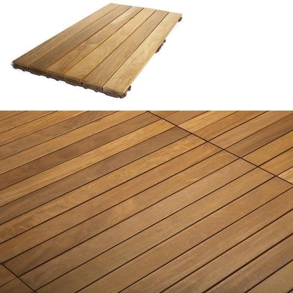 Flexdeck Diy Hardwood Deck Tiles 18x36 Quot Ipe Champagne
