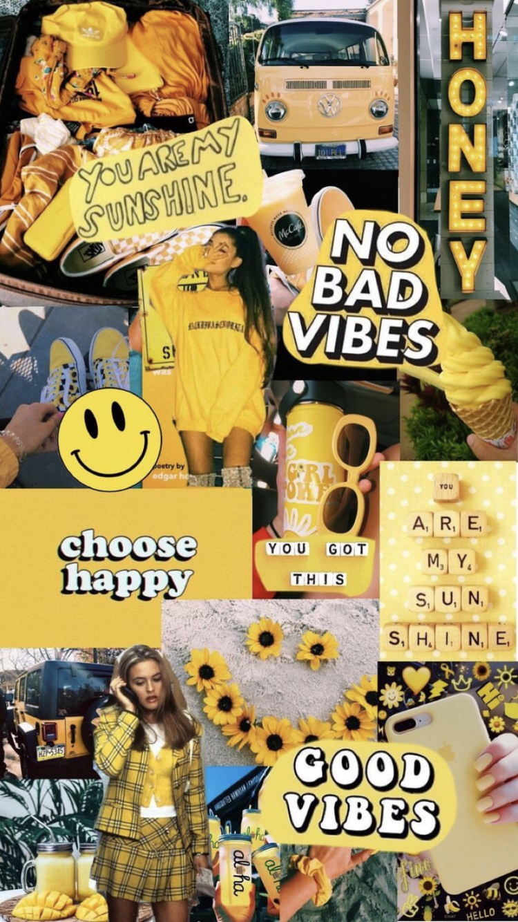 pinterest@juliaahn_  COLLAGE in 2019  Good vibes wallpaper, Aesthetic iphone wallpaper