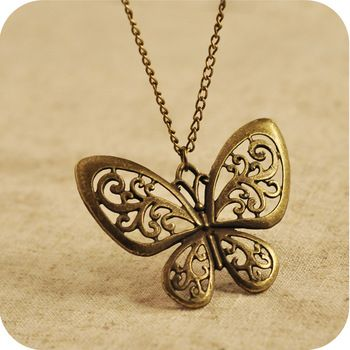 0.12 euro excl shipping Free to send 5 dollars coupon!  vintage     cutout butterfly   necklace men jewelry necklaces & pendants A81