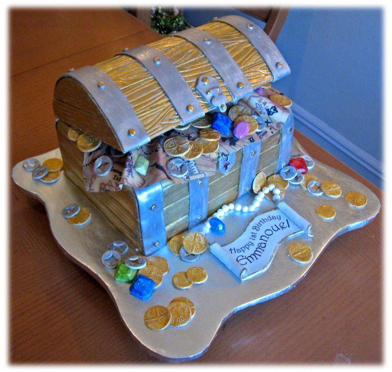 Treasure check cake. Wow.