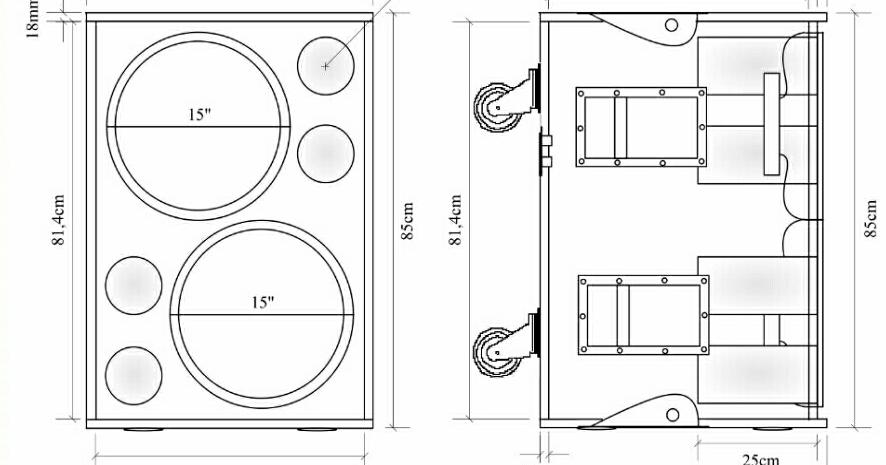 Kumpulan Skema Box Speaker Lapangan Terlengkap Dan Terbaru Caixa De Som Caixas Acusticas Projetos De Carpintaria
