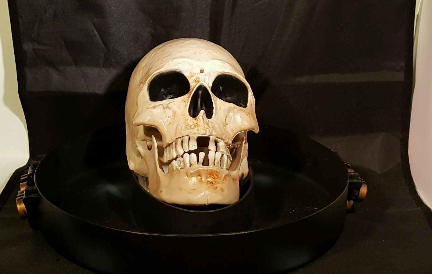 Gemmy Animated Candy Dish Bowl Head Skull Motion Activated