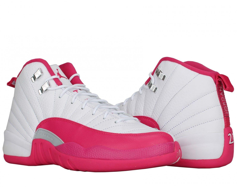 688c14bca6f0 Nike Air Jordan 12 Retro GG White Vivid Pink-Silver Basketball Shoes  510815-109 - Free shipping at NYCMode