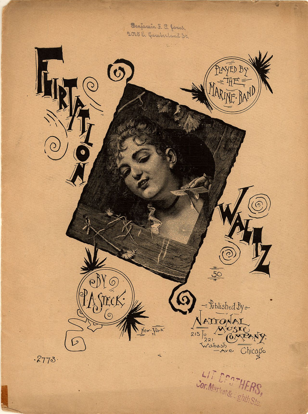 Flirtation Waltz (1890). Paul Albert Steck, New York