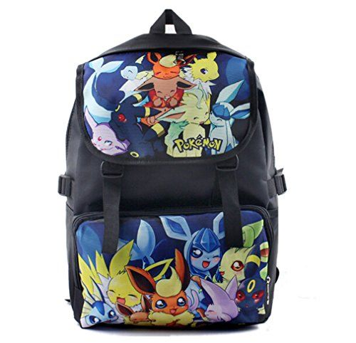 awesome       £20.99  Pokemon Pikachu Backpack Anime School Bag laptop bag100% Brand New and Good QualityGreat for school,outdoor living and journey...  Check more at http://fisheyepix.co.uk/shop/bonamana-cartoon-pokemon-pikachu-backpack-anime-school-bag-rucksack-for-teens-b-2/
