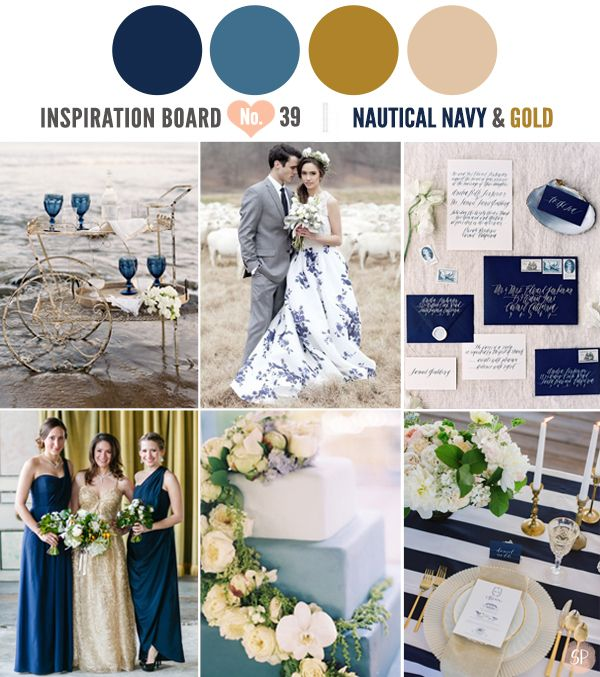 Nautical Navy and Gold Inspirations | Simply Peachy Wedding Blog ...