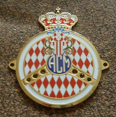 Automobile club monaco car grille badge acm gold - Ecusson monaco ...