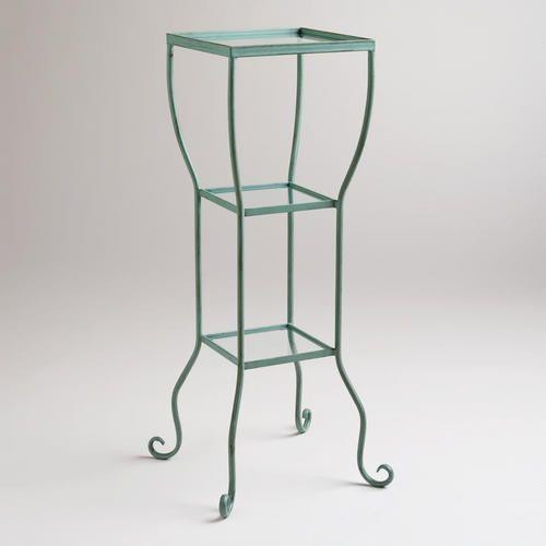"$79 ... 15x12x35""One of my favorite discoveries at WorldMarket.com: Aqua 3-Tier Tiffany Storage Tower"