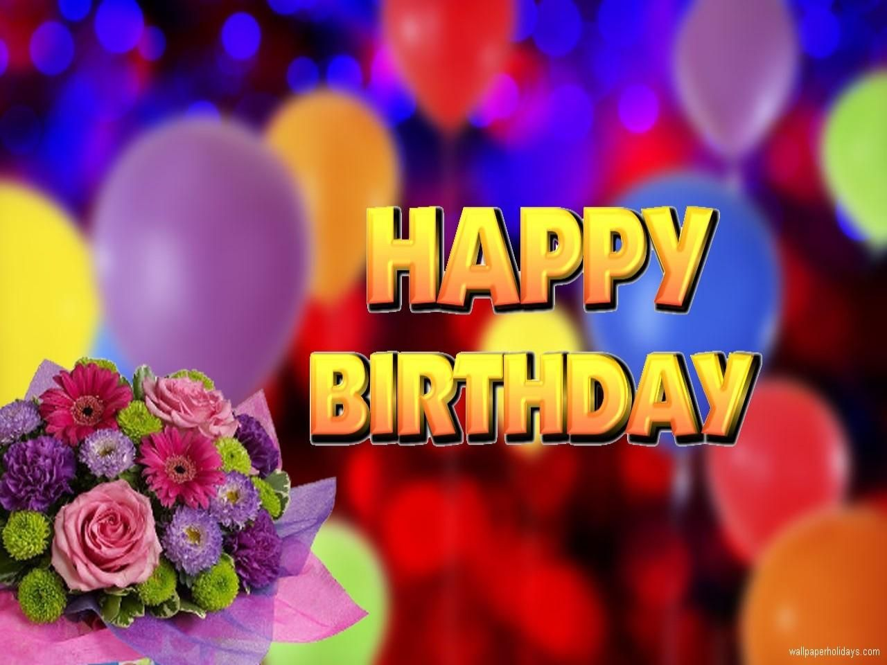Image Result For Happy Birthday Flowers Hd Wallpaper Happy Birthday Flower Birthday Wishes Birthday Flowers