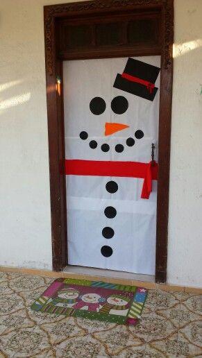 Puerta navidad mu eco de nieve diy decoraci n casa for Diy decoracion casa
