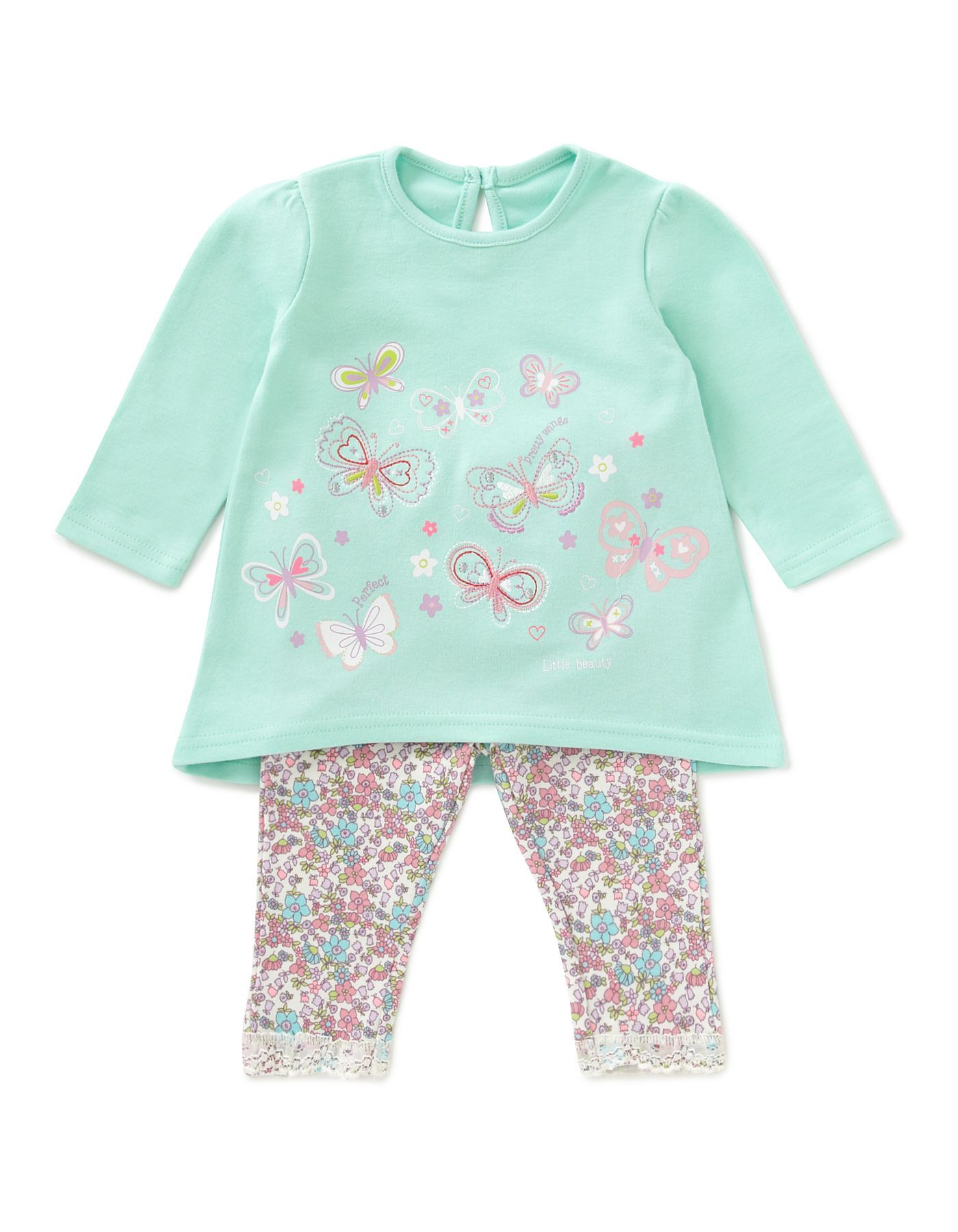 Floral Baby Outfit Baby George at ASDA Baby stuff