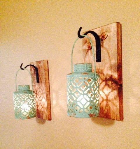 Rustic gray lantern Wall decor Rustic bathroom by LisaMarieDS | Home ...