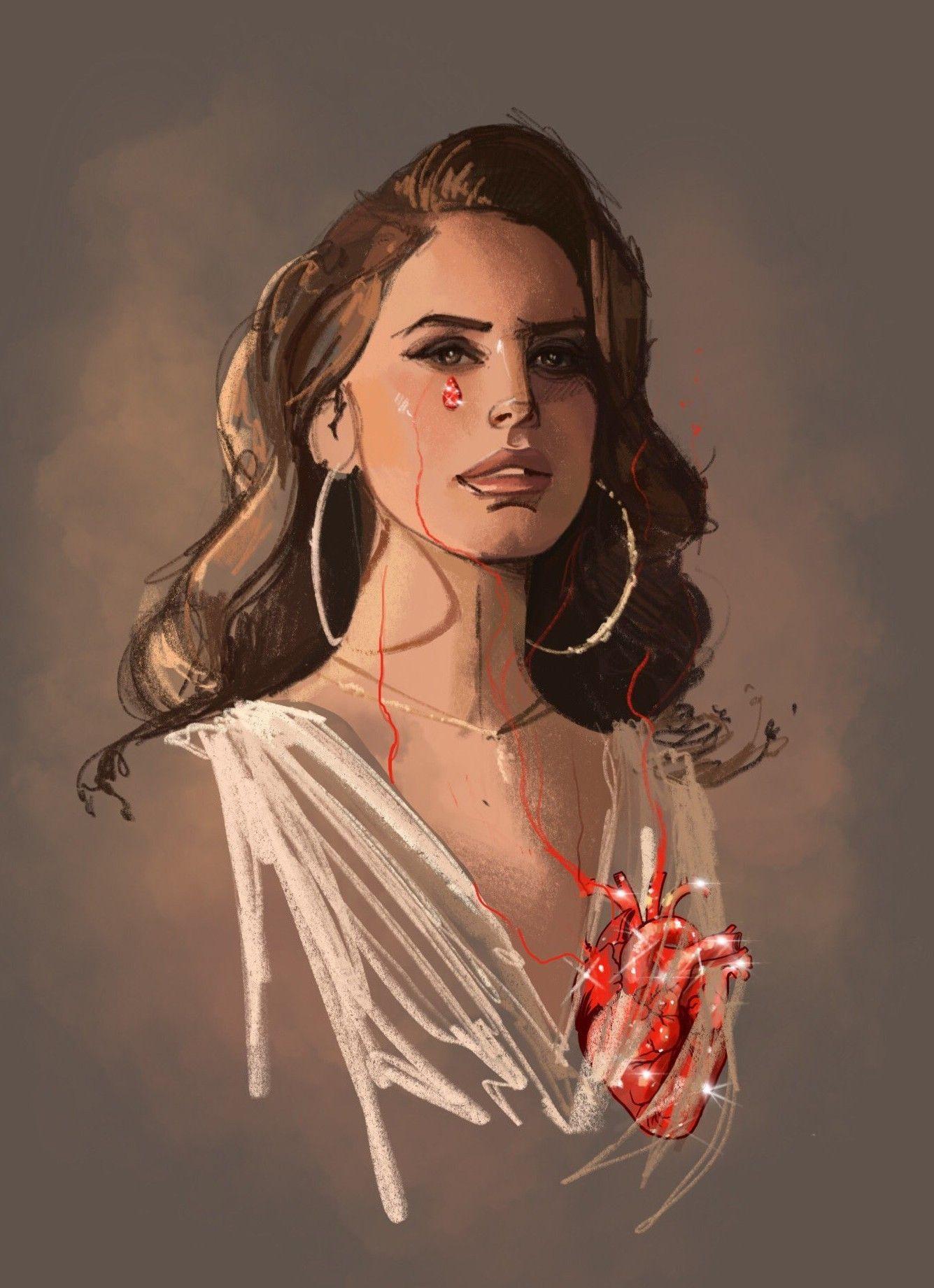 e5a535ff4ba3 Lana Del Rey #art by Fernando Monroy | Lana Del Rey in 2019 | Lana ...