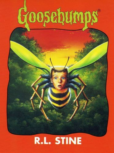 Goosebumps Why I Am Afraid of Bees Postcard R.L. Stine Books Scary Horror 1996