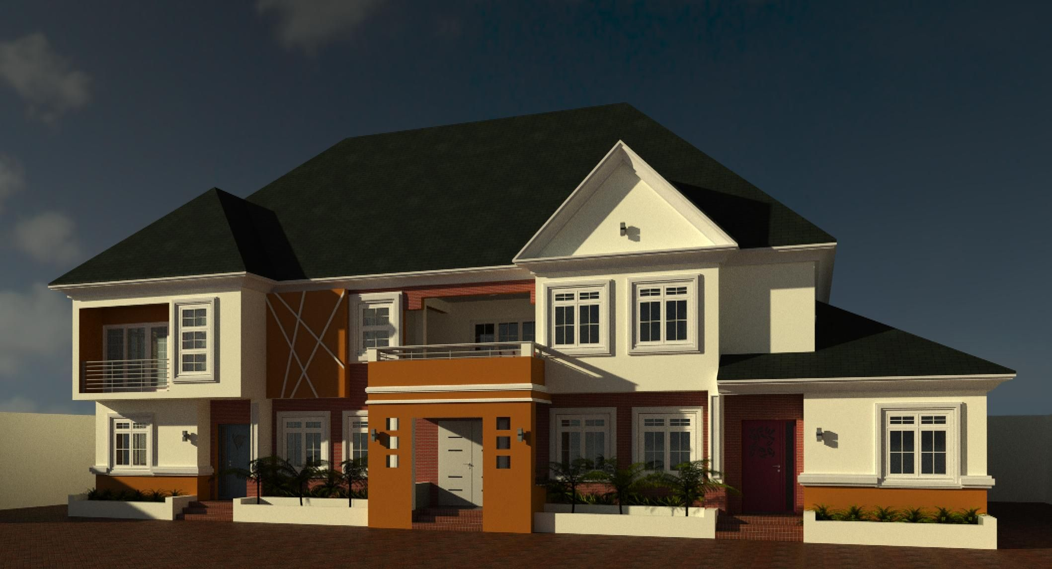 A simple twobedroom semidetached bungalow below, and a